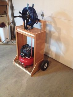My New Air Compressor Cart I Made From A Repurposed Bathroom Cabinet.