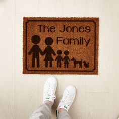 Personalised Family Doormat - new home gifts
