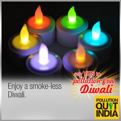 Let your prayers reach the Gods. Don't drown them in crackers. #PollutionFreeDiwali