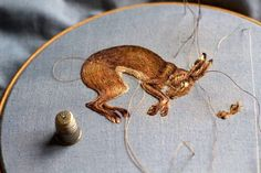 Densely Embroidered Animals by Chloe Giordano Illustration