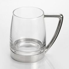 Tankard, Modern Tankards - This tankard combines pewter and glass. #pewter #RoyalSelangor