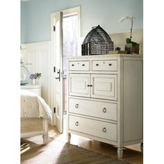 Showcasing 7 drawers and 2 doors, this classic chest adds a country-chic touch to your master suite or living room.   Product: ...