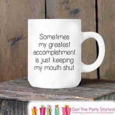 Coworker Gift, Coffee Mug, Sarcastic Mug, Novelty Ceramic Mug, Humorous Quote Mug, Funny Coffee Cup Boss Gift Idea, Mug Exchange