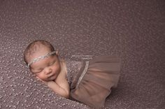 TAUPE Popcorn Newborn Fabric Backdrop by LovelyBabyPhotoProps