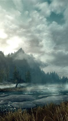 Elder Scrolls Landscape iPhone 6 Wallpaper 33299 - Games iPhone 6 Wallpapers