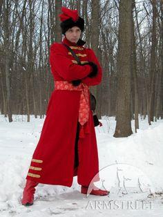 Slavic Folk Mens Costume XVI Century Wool Coat Garb par armstreet