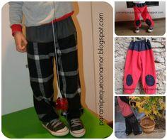 Para mi peque con amor: Pantalón bombacho 2 piezas. Tutorial y patrón talla 115 (4 - 5 años)