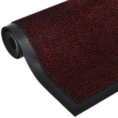 Por Eltávolítása Csúszásmentes Lábtörlő Téglalap 180 x 120 cm Piros
