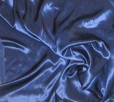 LAPIS BLUE Silk Charmeuse Fabric  1/4 Yard by silkfabric on Etsy, $6.95