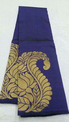 Kanjivaram silk saree from shiny pleats
