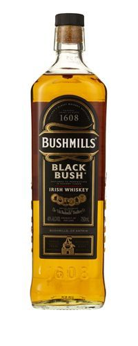 Bushmills Black Bush ($29) View Thumbnails Bushmills Black Bush ($29) A classic blend, heavy on the malt. Like liquid angel-food cake, smooth and grainy. Delightful.