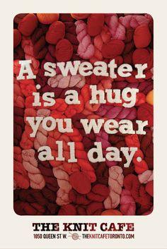 #houseofads | The Knit Cafe: Hug. From MacLaren McCann, Toronto.