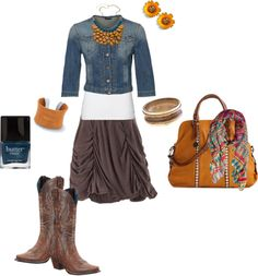 """""""cowboy chic"""" by kathy-robbins-riddle on Polyvore"""