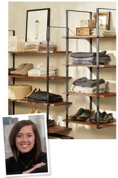 Love these shelves - Closet Organization Tips From Chicago's Best Style Experts