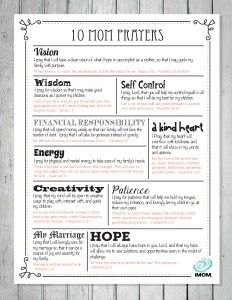 10 MOM Prayers {Printable} #247moms