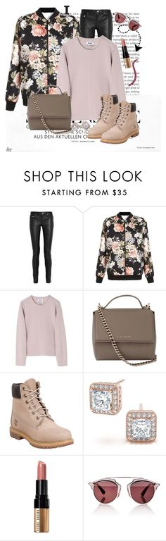 """""""Untitled #1239"""" by ekozlova ❤ liked on Polyvore featuring Yves Saint Laurent, New Look, Acne Studios, Givenchy, Timberland, Bobbi Brown Cosmetics, Christian Dior and MAC Cosmetics"""