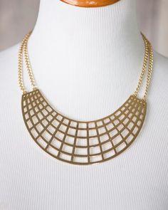 Eden<br>Crescent Cutout Necklace