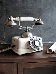 RESERVED French Vintage Phone by lovintagefinds on Etsy