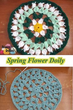 Spring Flower Doily Free pattern and video tutorials - by Meladora's Creations