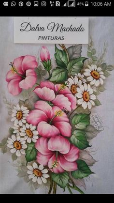 Tole Painting, Fabric Painting, Fabric Paint Designs, Oriental Lily, Jar Art, Beautiful Flowers Wallpapers, Arte Floral, Copics, Pictures To Paint