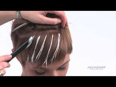 (62) Alfaparf Milano USA - Supermeches+ Bleaching Technique #5: Sunray - YouTube
