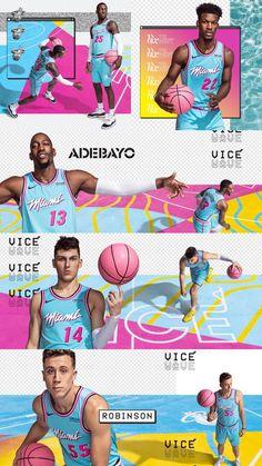 Miami Heat Vice Wave Wallpaper Adebayo Herro Robinson Nunn Butler Phone Background In 2020 Miami Heat Waves Wallpaper Miami
