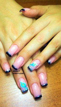 Stripe band nail art