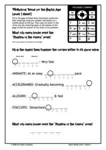 Musical Terms for the Digital Age Worksheet
