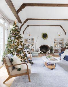A Neutral Winter Wonderland Living Room