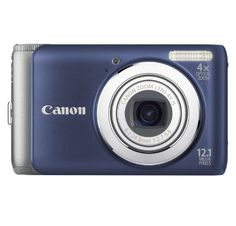 Canon PowerShot A3100IS 12.1 MP Digital Camera with 4x Optical Image Stabilized Zoom and 2.7-Inch LCD (Blue), Best Gadgets