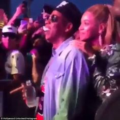 Loves it: Beyonce and Jay Z beamed as the pop star got a special birthday…