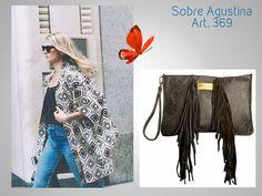 #Sobre + Flecos con manija #Folk #New Boheme  #AGUSTINA Look 🌻 #SOBRE GRANDE AGUSTINA.. (Nuevo!!!!!!!!) Art. 369/2  Precio......> $1005  Acá lo podés ver y comprar: http://www.mariapuyalcueros.com.ar/products/agustina  CARACTERISTICAS:  SOBRE  Sobre grande con flecos.  Medidas 22 cm de alto  31cm de ancho  Manija Corta: 30 cm. De cuero chata. De mano.  Cadena de un metro.  Material externo: Cuero vacuno. Y gamuza .