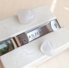 Message Bracelet  Custom Stamped Bracelet by BlueCornerCreasigns