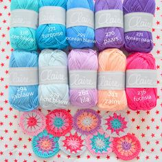 Love this colour combo Crochet Squares, Crochet Motif, Crochet Stitches, Yarn Color Combinations, Colour Schemes, Diy Crochet And Knitting, Color Me Beautiful, Yarn Stash, Yarn Colors