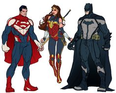 Trinity Redesign by Michael Ransom Getty #Superman #WonderWoman #Batman
