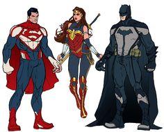 Trinity Redesign by Michael Ransom Getty #Superman #WonderWoman #Batman