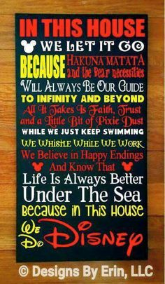 Cute Disney sign for the playroom