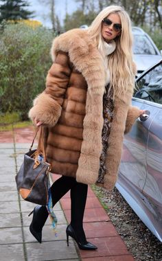 MINK FUR COAT WITH HOOD. & FOX FUR IN SABLE COLOR. ROYAL SAGA MINK. ROYAL SAGA MINK ! IS ONE OF THIS FUR THAT WE DO NOT HAVE TO RECOMMEND. LOOKS LIKE GOLD SABLE. NEW WITH INSIDE LABEL. MADE OF HIGHEST QUALITY SKINS.   eBay!