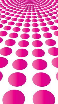 かっこいいピンク・3Dサークル模様 | iPhone6s 6Plus壁紙/待受画像ギャラリー