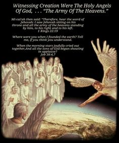 , hear the word of Jehovah: I saw Jehovah sitting on his throne . Jw Bible, Bible Truth, Jehovah Names, Angel Spirit, Scripture Of The Day, Genesis 1, Bible Knowledge, Jehovah's Witnesses, Son Of God
