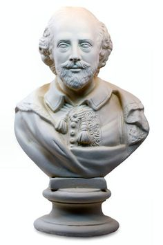 Shakespeare Bust Statue White Library Decor