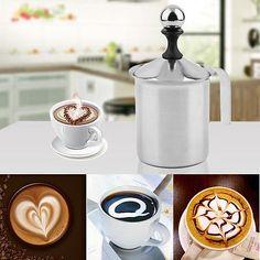 800cc Stainless Steel Double Mesh Foamer DIY Fancy Coffe Cream Milk Frother IB