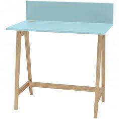 Luka Writing Desk 110cm Ragaba • WOO .Design Wooden Drawers, Laminated Mdf, Study Space, Cable Management, Writing Desk, Foot Rest, Office Desk, Organization, Design