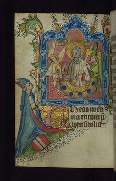 Illuminated manuscript, Prayer book of Bishop Leonhard von Laymingen of Passau, Christ in Majesty with kneeling bishop and Laymingen heraldry, Walters Manuscript W.163, fol. 102v | Flickr - Photo Sharing!
