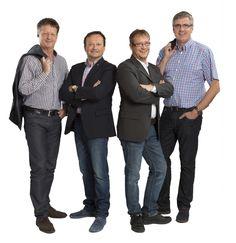Die vier purpurroten Malermeister aus Kärnten (von links): Wolfgang Schwarzenbacher, Peter Kircher, Christian Steinberger, Karl Pugganig