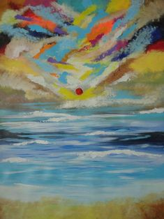 Buy Magical Sunset at beach! Large Abstract Painting on Canvas !, Acrylic painting by Amita Dand on Artfinder. Discover thousands of other original paintings, prints, sculptures and photography from independent artists.