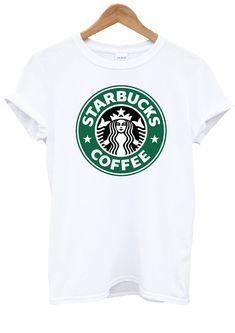 Starbucks Coffee Hipster Tumblr White T-Shirt Top Shirt