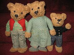Papa bear, Mama bear, and Baby bear