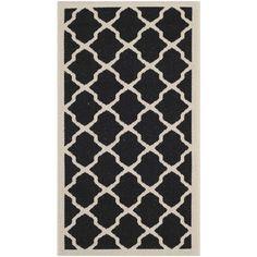 """Safavieh Courtyard Black / Beige Rug (2'7""""x5')"""