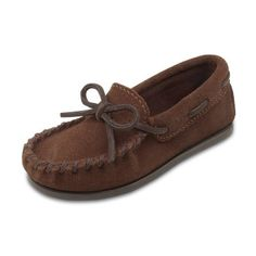 Minnetonka Boys Moccasin - Chocolate, Size: 10 Toddler - 2773-CHOCOLATE-10